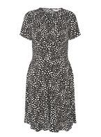 Womens **Maternity Animal Print Tea Dress- Black