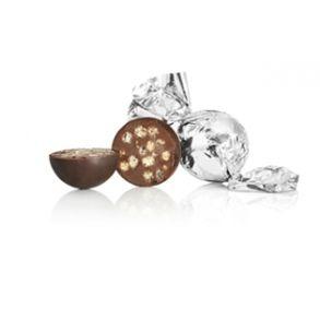 Sølv chokoladekugle med crisp kerne