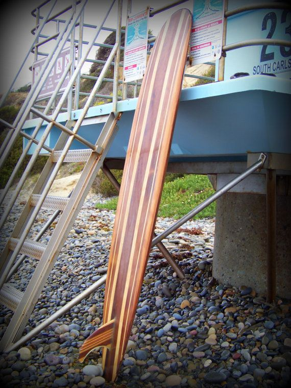 7 Foot Long Single Fin Surfboard Hollow by DandJWoodenboards, $900.00