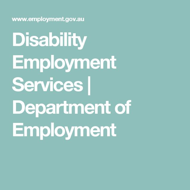 Disability Employment Services | Department of Employment