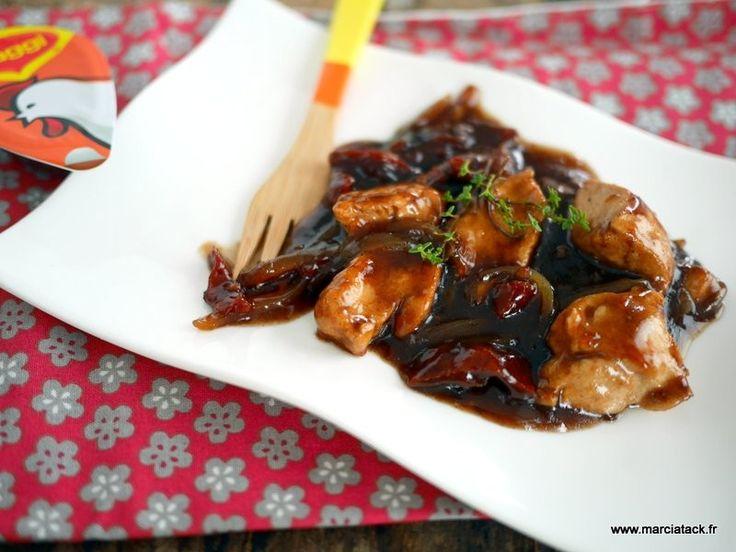 Poulet au vinaigre balsamique et tomates séchées : cuisson à la poêle pour une sauce onctueuse et enrobante !