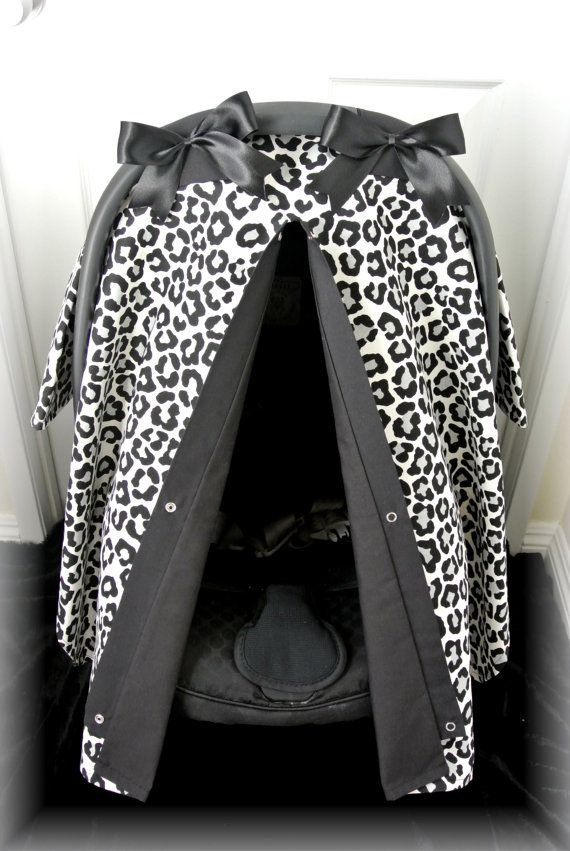 car seat canopy car seat cover cheetah black by JaydenandOlivia