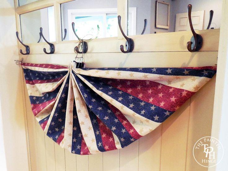 No Sew Patriotic Bunting Tutorial 7