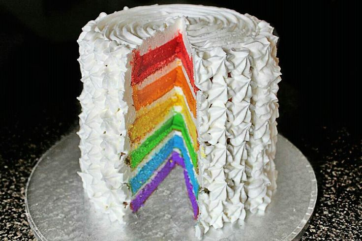 My rendition of a rainbow cake