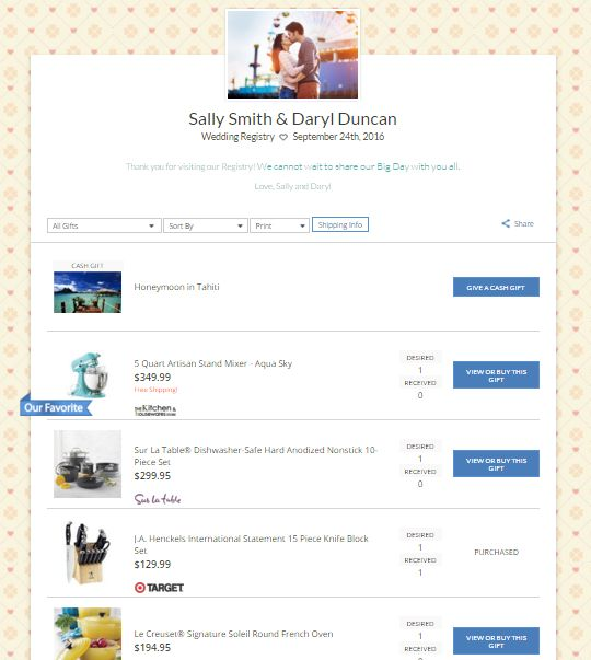 Best 25 gift registry ideas on pinterest wedding gift for Good wedding registry items