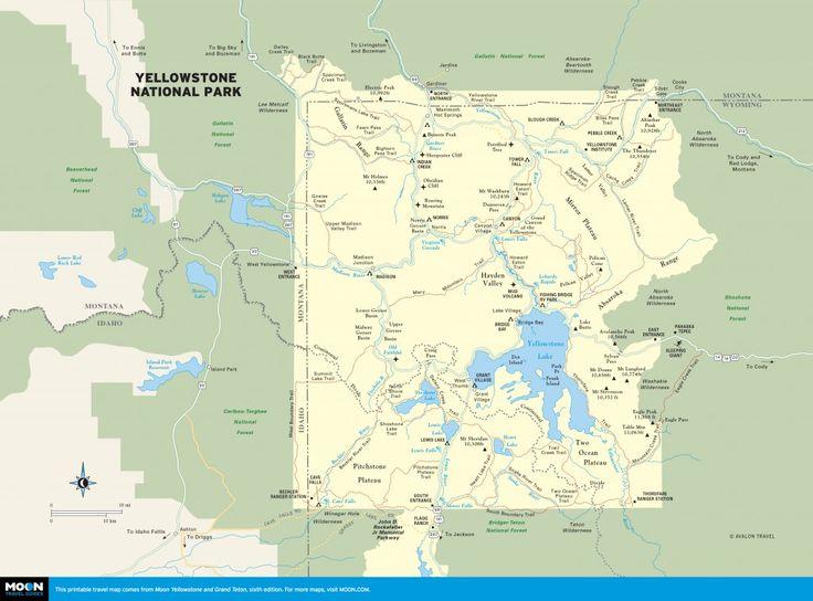 Best 25 Map of yellowstone ideas on Pinterest  Yellowstone map