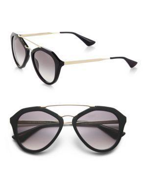 f200928247 PRADA 54MM Mirrored Aviator Sunglasses.  prada