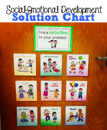 Teaching social-emotional skills using a solution chart! Same link leads to Vanderbilt's printables and book suggestions!