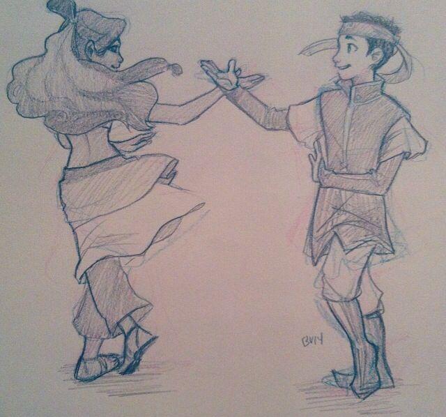 Happy Dancers | by Burdge | Aang & Katara | Book 3: Fire | The Last Airbender | Avatar
