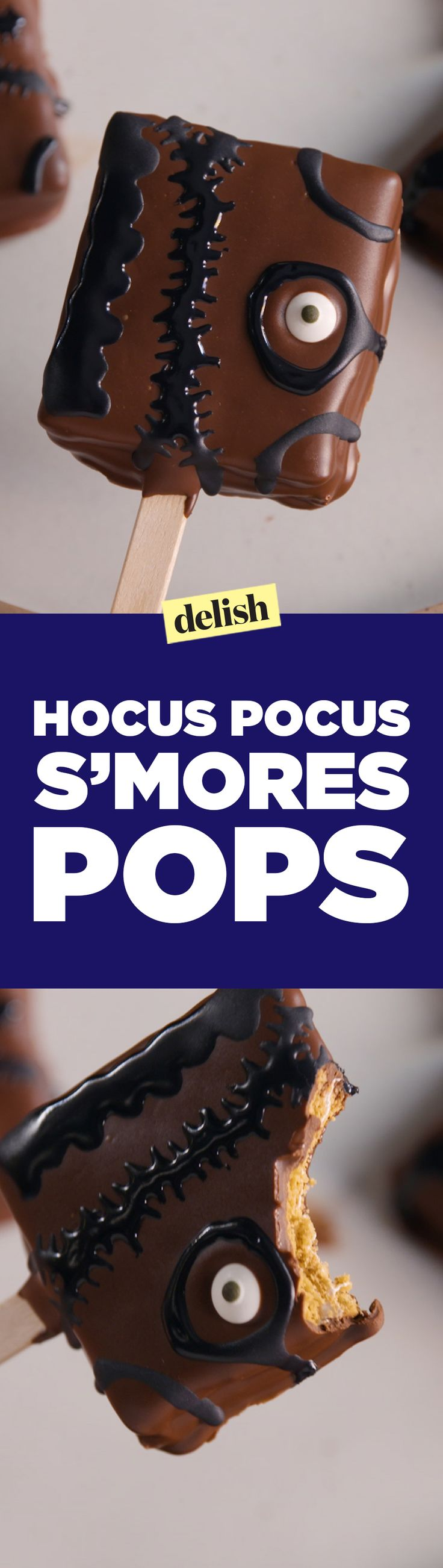 These 'Hocus Pocus' s'mores pops will definitely put a spell on you. Get the recipe on Delish.com.