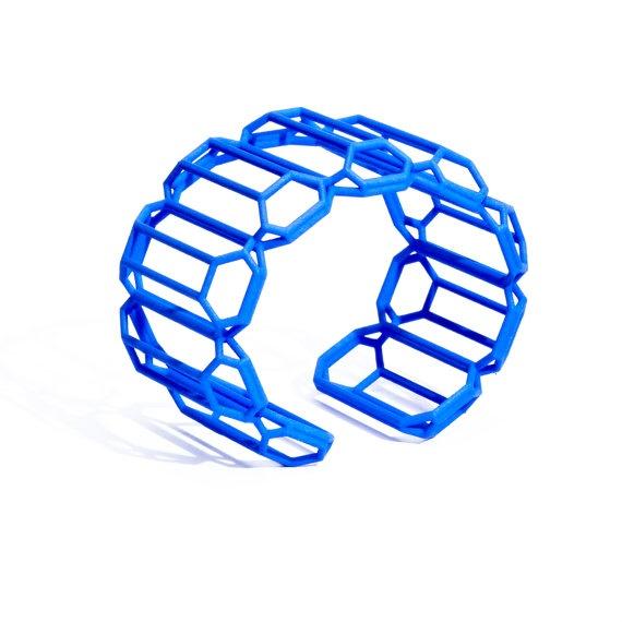 3D Printed Emerald Cut Diamond Shaped Bracelet  MYBF by Maison203, €63.00