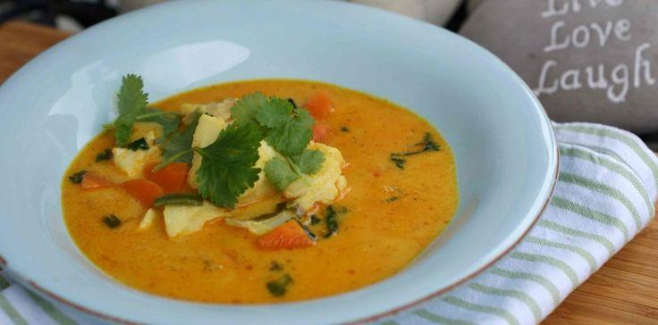 Suppe med reker og koriander