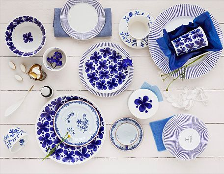 I love Rörstrand, I have their West Indies pattern which is featured as one of the patterns in the picture!