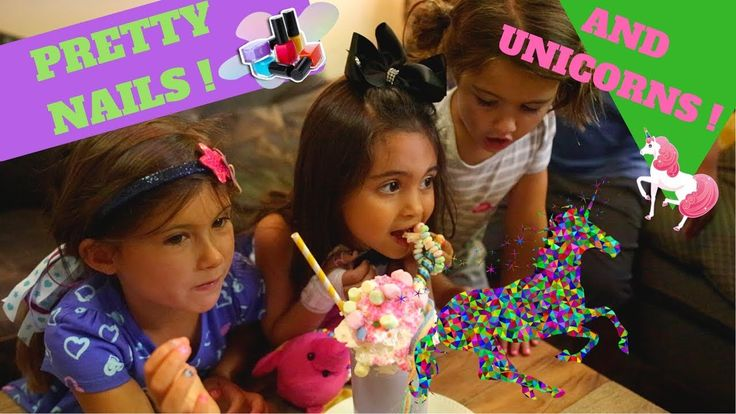 Unicorn Shakes, Nails, Pizza and loads of Fun - These girls take over Anaheim Hills - YouTube