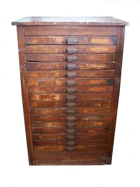Hamilton Cut Wood type cabinet   How many beads can you store in one of these?????