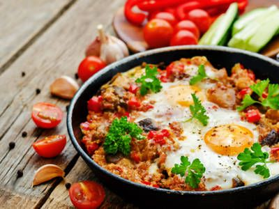 Tasty Tomatoes And Peppers Hash