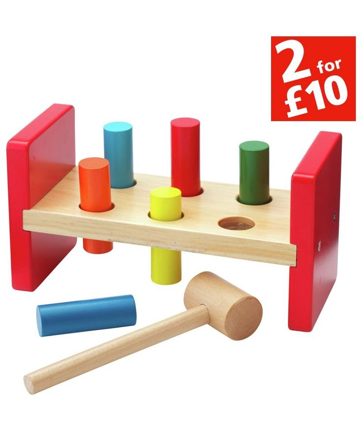 Buy Chad Valley Wooden Hammer Bench at Argos.co.uk - Your Online Shop for Building role play, 2 for 10 pounds on Toys, Wooden toys.