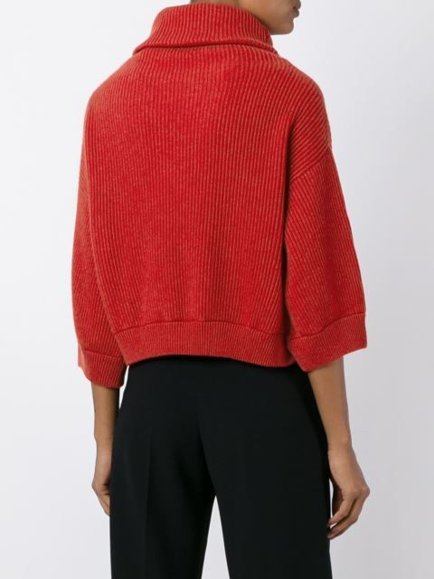 Brunello Cucinelli укороченный свитер с высоким горлом Кашемир 100%