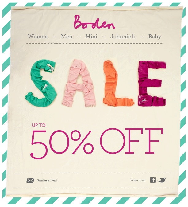 119 best sale e mails images on pinterest email for Boden newsletter