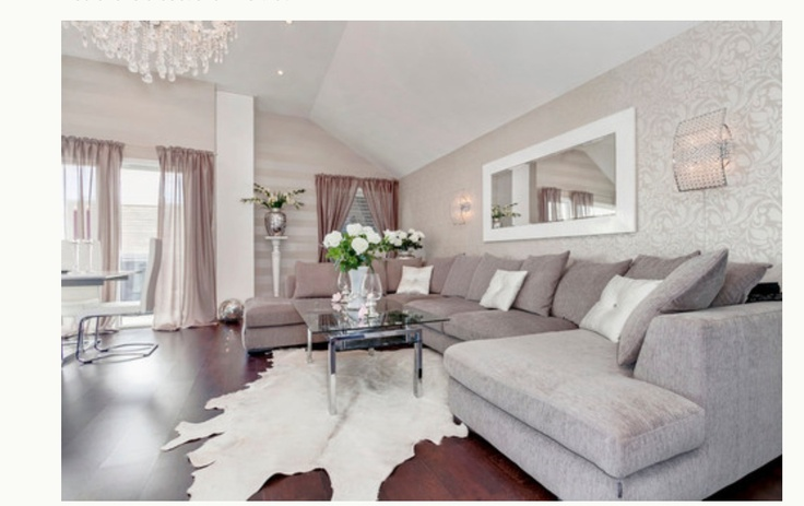 In love with this grey couch for the family room.