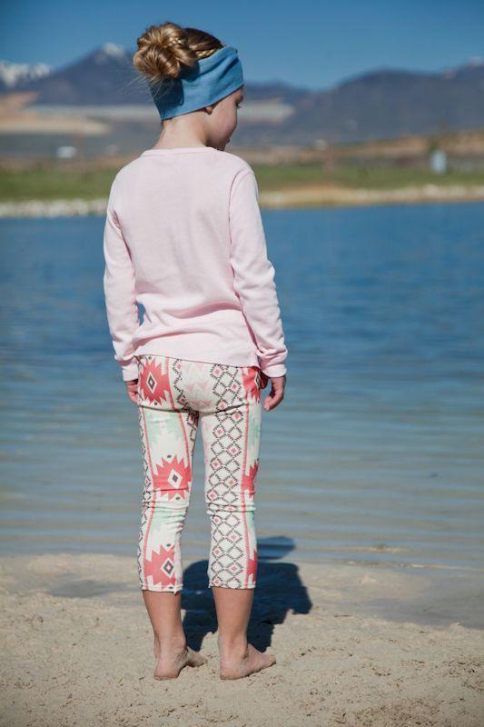 Salt City Emporium pink tribal print children leggings ...