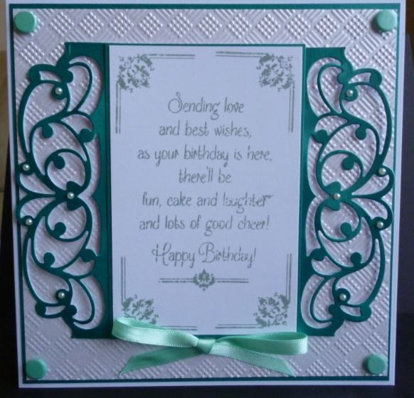 This was made using Tonic dies header dies and creative expressions stamps