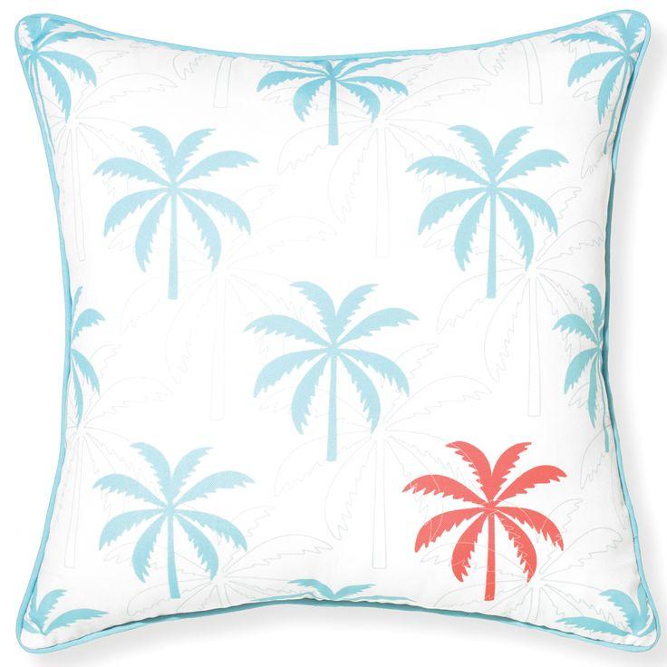 Rapee Riviera Island Aqua Indoor/Outdoor Throw Pillow @Zinc_Door
