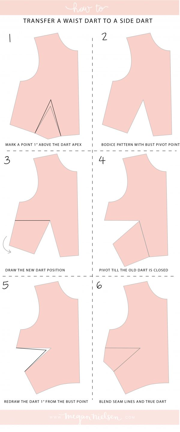 How to transfer a waist dart to a side dart