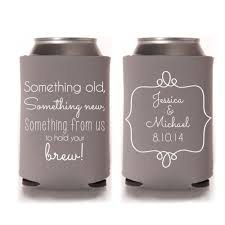 FREE SHIPPING Something Old Brew Reception Wedding Reunion Can Bottle Holder Party Favors Trinket Coolers Personalized Custom Beer Can Foam by WeddingsandReunions on Etsy