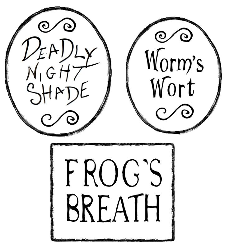 Nightmare B4 Christmas   Printable Poison Bottle Labels by ALTERED ARTIFACTS