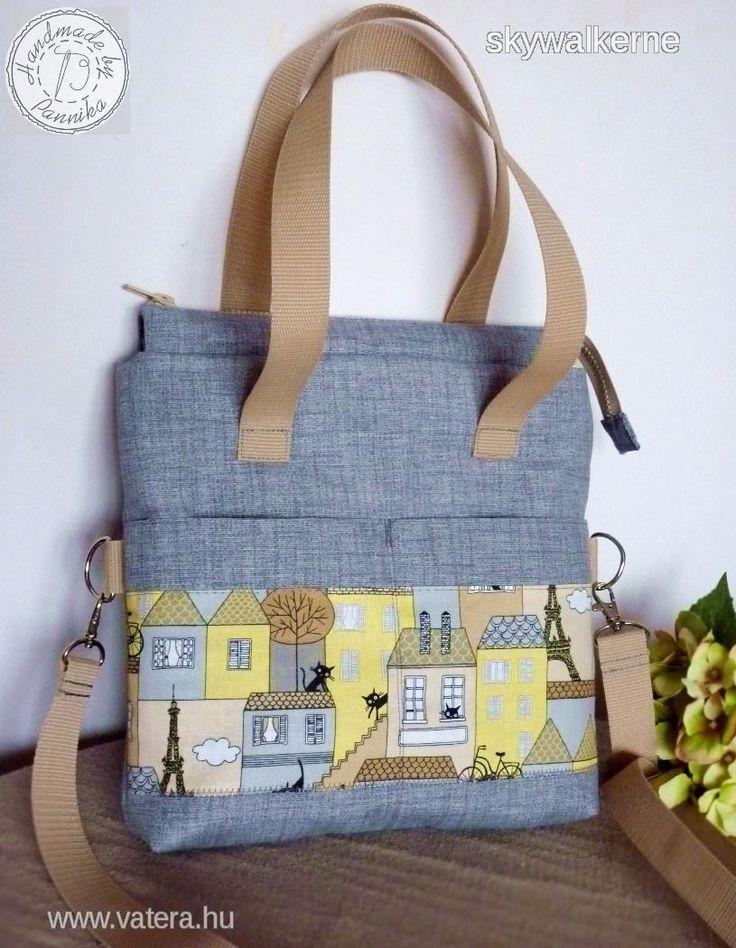 Cicás, szürke univerzális hátizsák,oldaltáska, kézi és átvetős táska