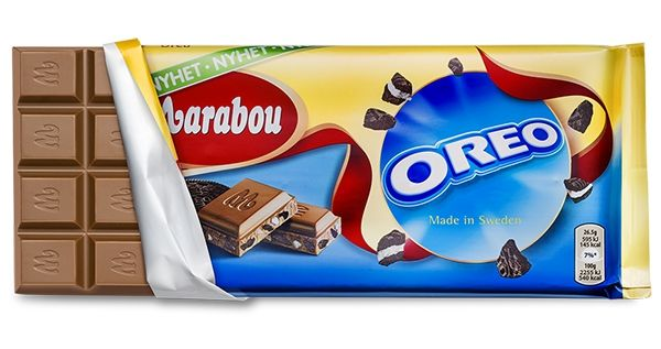 Marabou Oreo Chocolate Bar 200 g ( 7.0 oz ) Made in Sweden *NEW PRODUCT* - Made in scandinavian