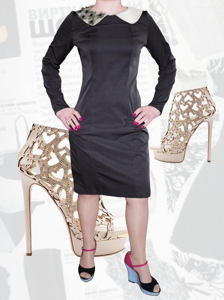 39$ Маленькое черное платье с атласным воротником и фатиновыми цветочками Артикул 821,р50-64 Платья больших размеров  Маленькое черное платье больших размеров Повседневные платья больших размеров  Платья на каждый день больших размеров  Офисные платья больших размеров  Платья миди больших размеров  Платья нарядные больших размеров  Платья черные больших размеров  Платья весна больших размеров  Платья осень больших размеров  Дизайнерские платья больших размеров