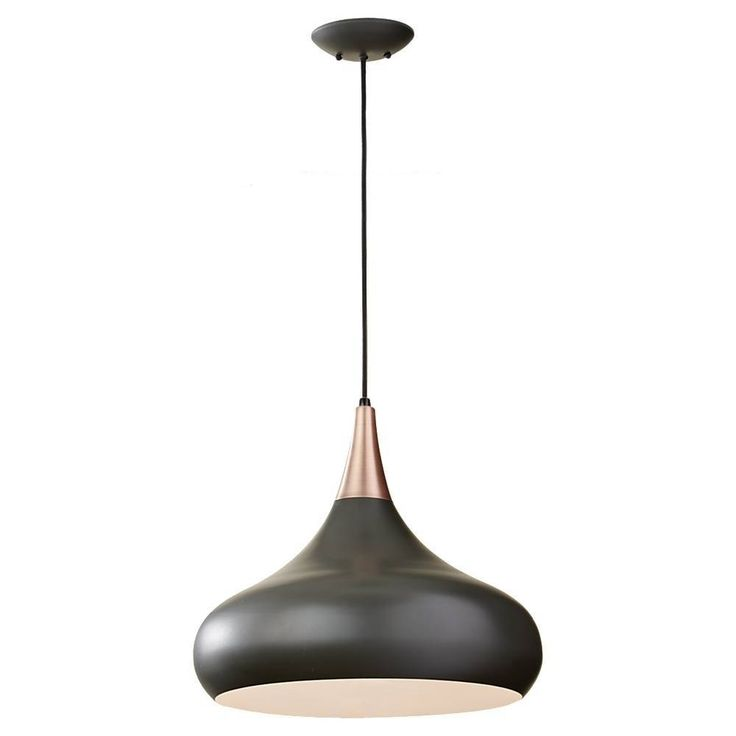 The Beso collection of pendant lights is inspired by 1960s Scandinavian designs.   1 A21 Medium 100 watt light bulb  Incandescent  Supplied with 180'' of wire Canopy: Depth: 1 3/8''  Diameter: 5 5/8''