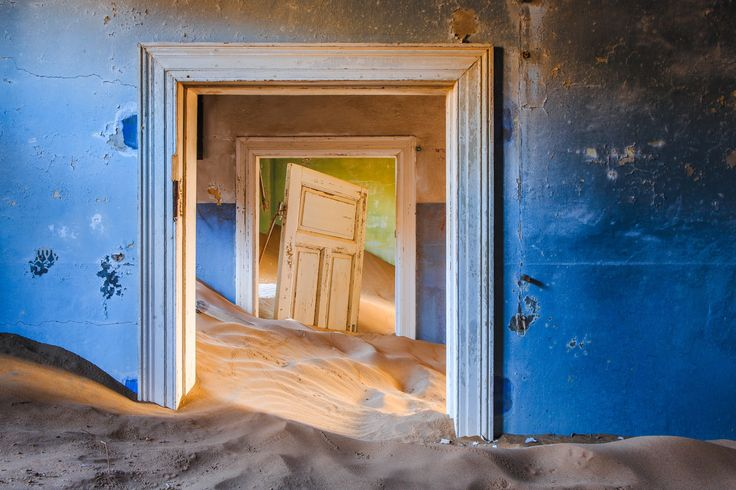 Kolmanskop - Ghost town - Kolmanskop is a ghost town of German dimond miners in the Namib desert in southern Namibia. On of the greatest abandoned places i ever saw in my life! — in Kolmanskop, Namibia.