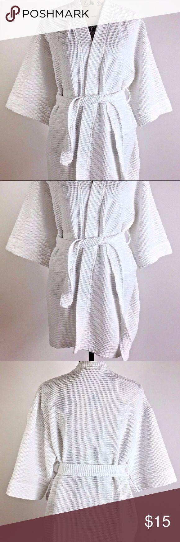 Aegean Apparel Women's Open Robe Waffle Knit Short Aegean Apparel Women's Open Robe Waffle Knit Short Sleeve Bath Robe Size L/XL Aegean Apparel Intimates & Sleepwear Robes