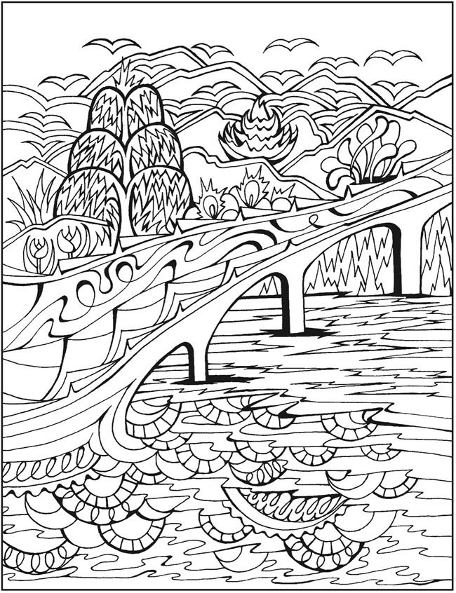 free scenery coloring pages - photo#20