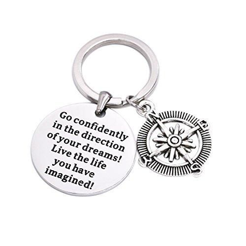 LParkin Go Confidently In The Direction Of Your Dreams Necklace Stainless Steel (Keychain)