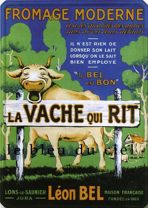 Plaque bombée Vache qui rit.