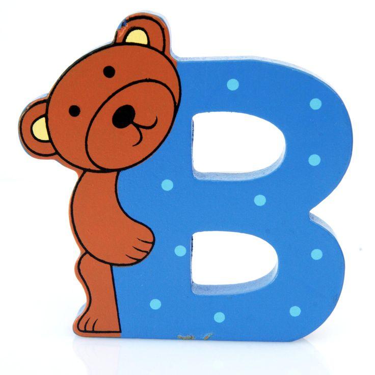 Simpatica lettera B in Legno con l'aspetto di un'Orsetto , per decorare e rendere più bella la cameretta componendo nomi, frasi. Sono disponibili tutte le lettere dell'alfabeto  Può essere appoggiata su una mensola oppure si puo' fissare con colla o biadesivo o possono anche essere utilizzate per giocare.  Dimensioni cm 8 x 7 x 1  Materiale: Legno.   I colori possono cambiare in base alle disponibilita'