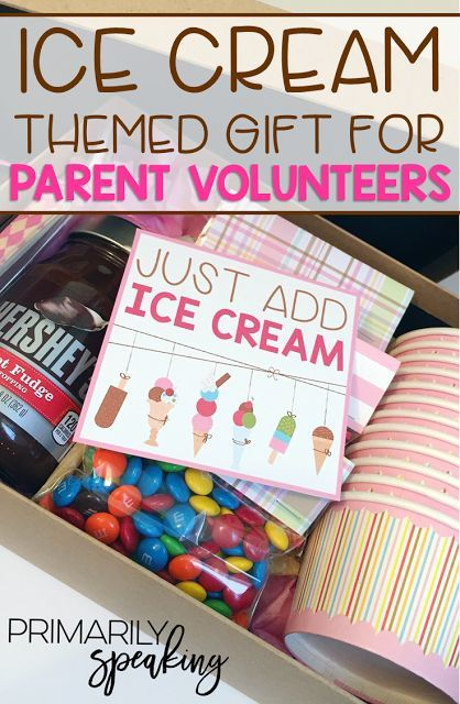 28 best parent volunteer gift ideas images on pinterest parent ice cream themed parent volunteer gift negle Choice Image