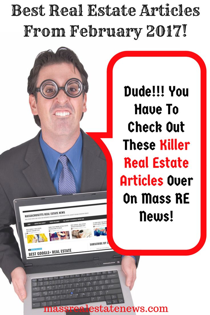 See the best Google+ real estate articles for February 2017. These articles feature some of the best real estate bloggers around the country. http://massrealestatenews.com/best-google-real-estate-february-2017/