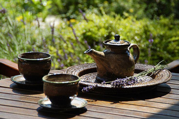 Lavender tea in Hullam Villa