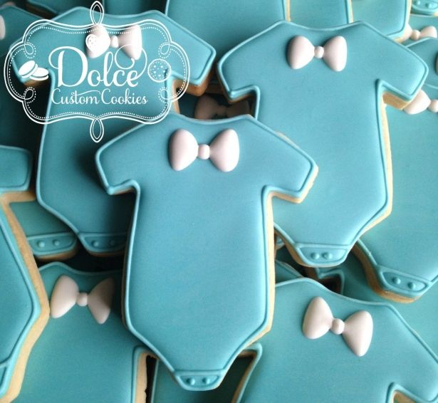 Little Man Bow Tie Bowtie Baby Shower First Birthday Cookies - 1 Dozen (12 Pcs) by Dolce Custom Cookies on Gourmly
