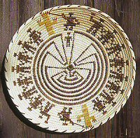 Native American Labyrinths -- Tohono O'odham basket