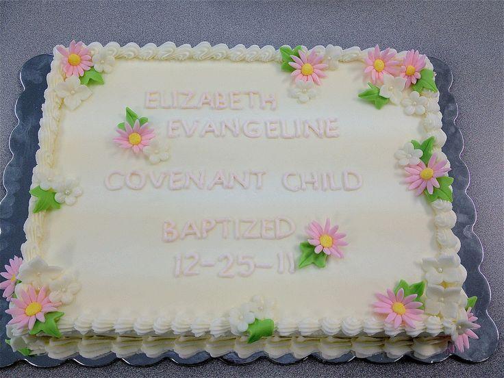 Baptism Sheet Cakes Recipe
