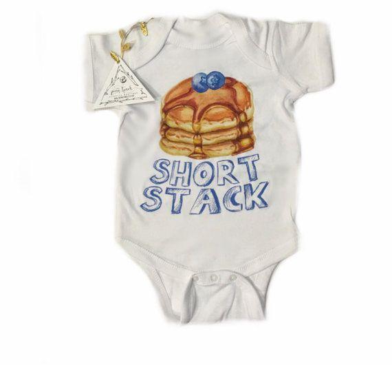 Short Stack Pancake Funny baby shirt one piece por ThePineTorch