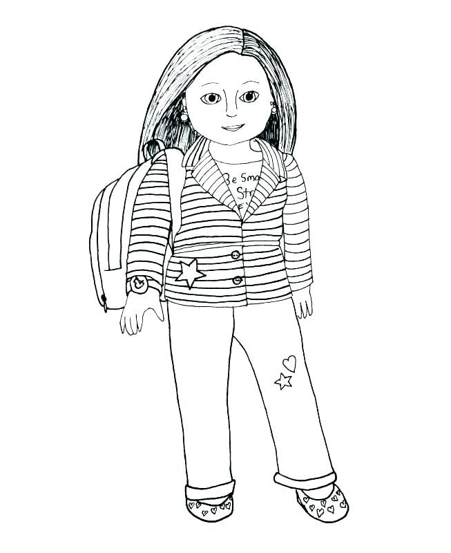 American Girl Coloring Pages Coloring Pages For Girls Monster