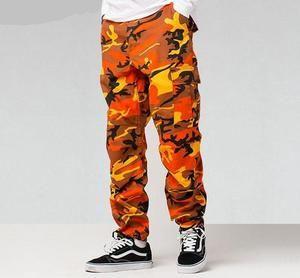 Orange Camo Pants (Unisex)