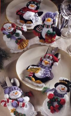 Just got these Snowman Penguin Silverware Holders and can't wait to have them ready for Christmas!